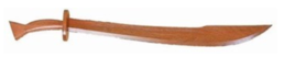 Wood Kung Fu sword Red Oak -puumiekka
